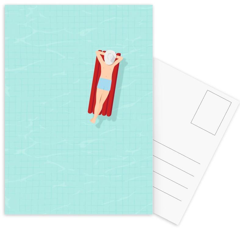 Natation, Luftmatratze cartes postales