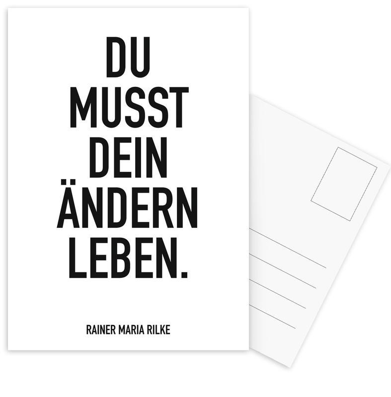 Noir & blanc, Citations et slogans, Motivation, Ändern Leben cartes postales