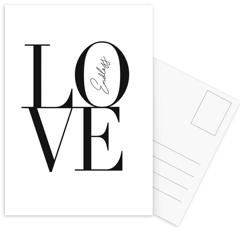 Noir & blanc, Citations d'amour, Endless Love cartes postales