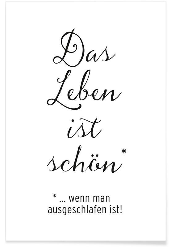 Noir & blanc, Citations et slogans, Das Leben ist schön affiche