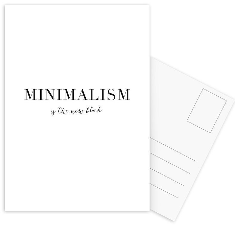 Noir & blanc, Citations et slogans, Minimalism cartes postales