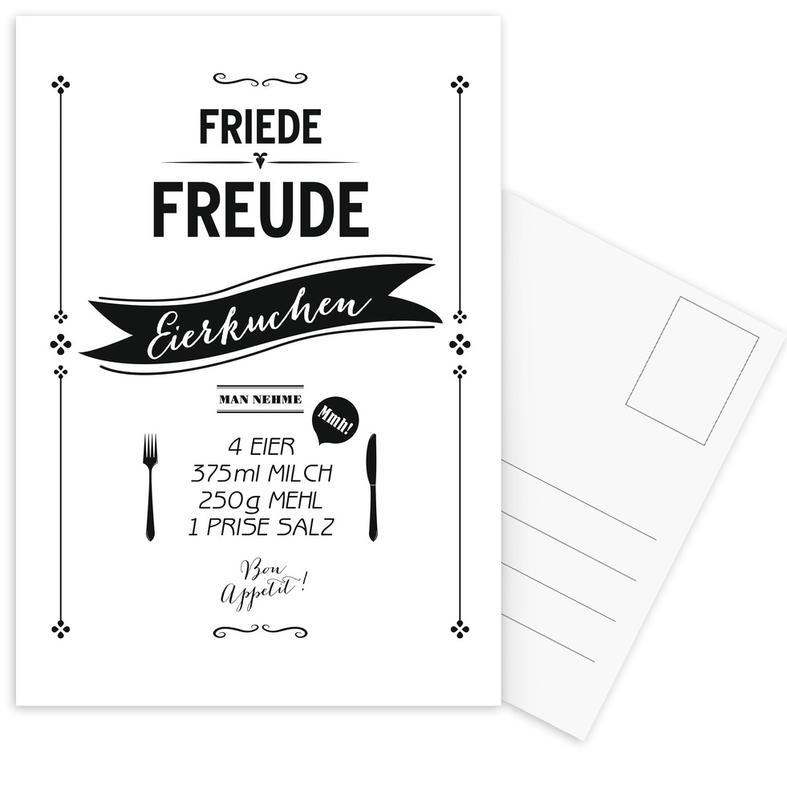 Noir & blanc, Eierkuchen cartes postales