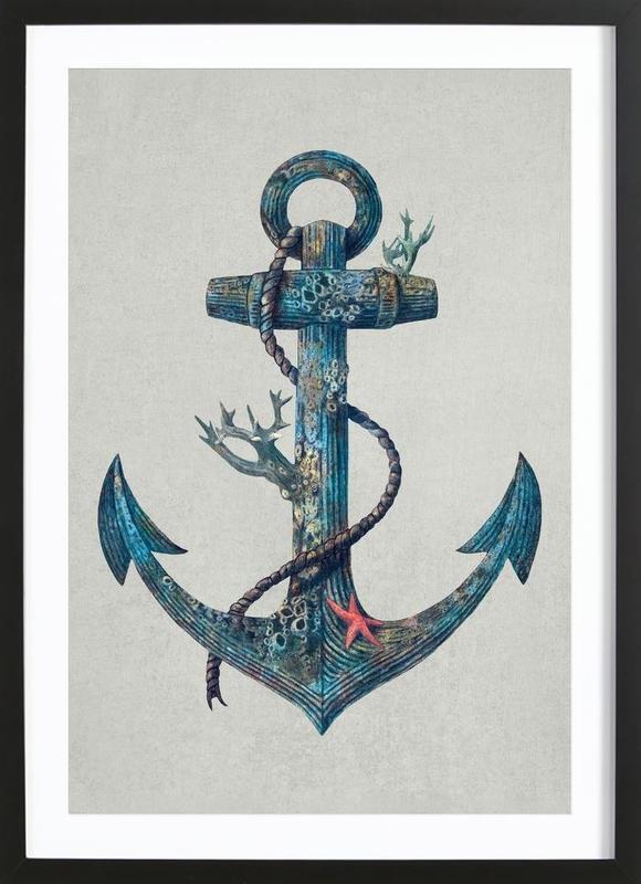 Lost at Sea affiche sous cadre en bois