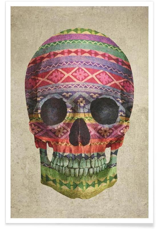 Navajo Skull Poster