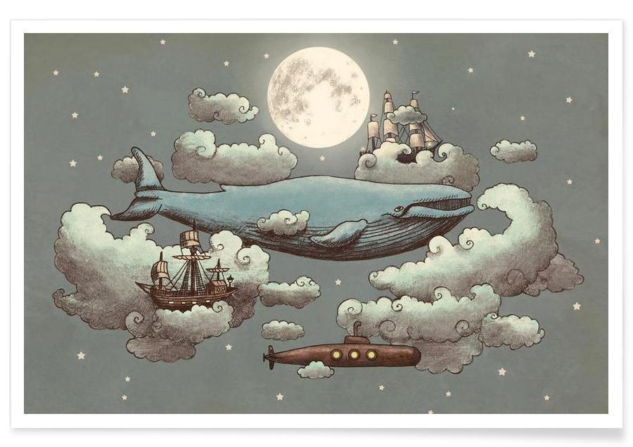 Ocean meets sky affiche