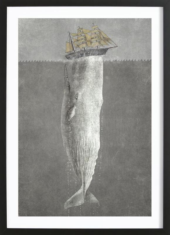 Revenge of the Whale -Bild mit Holzrahmen