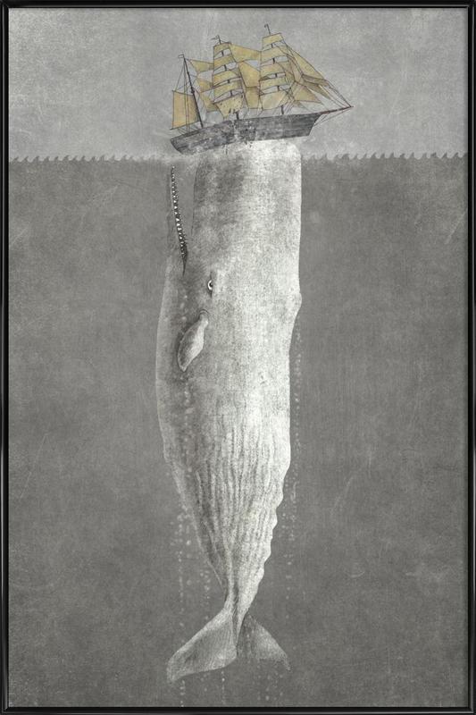Revenge of the Whale -Bild mit Kunststoffrahmen
