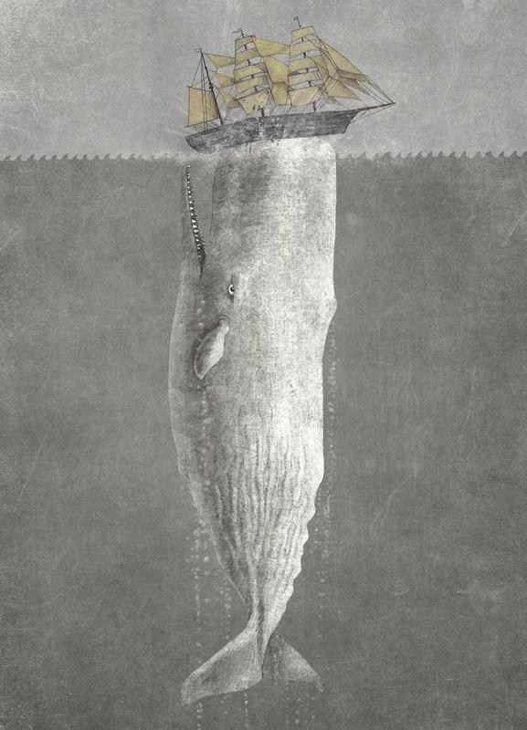 Revenge of the Whale -Leinwandbild