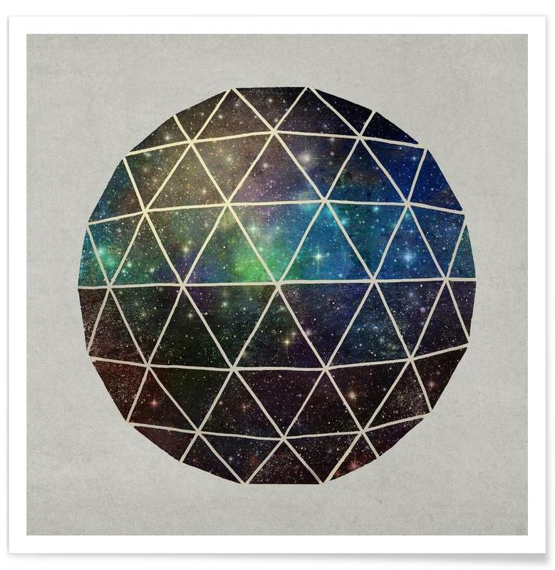 Space Geodesic Poster