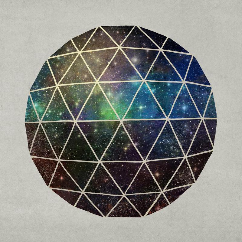 Space Geodesic -Acrylglasbild