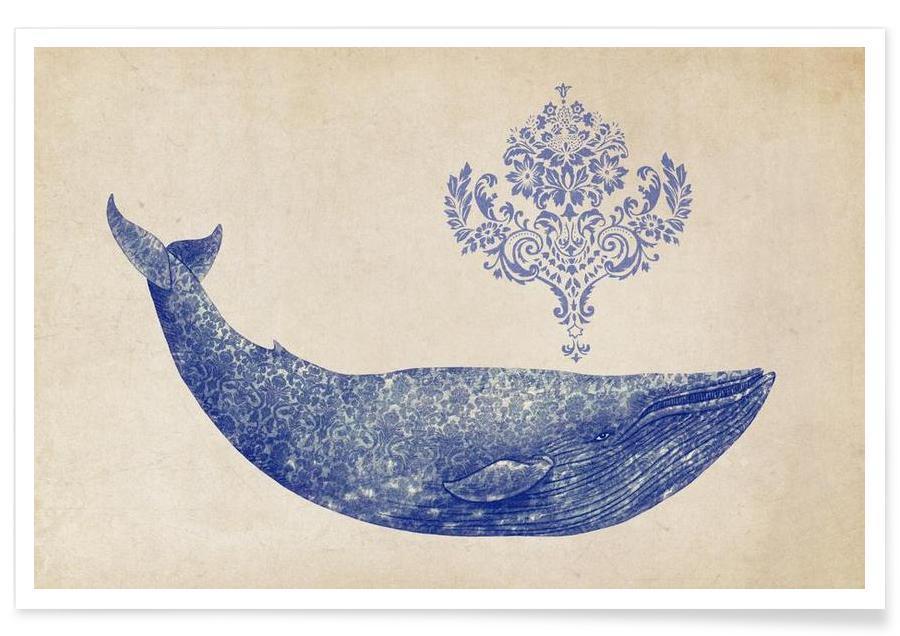Baleines, Damask Whale affiche