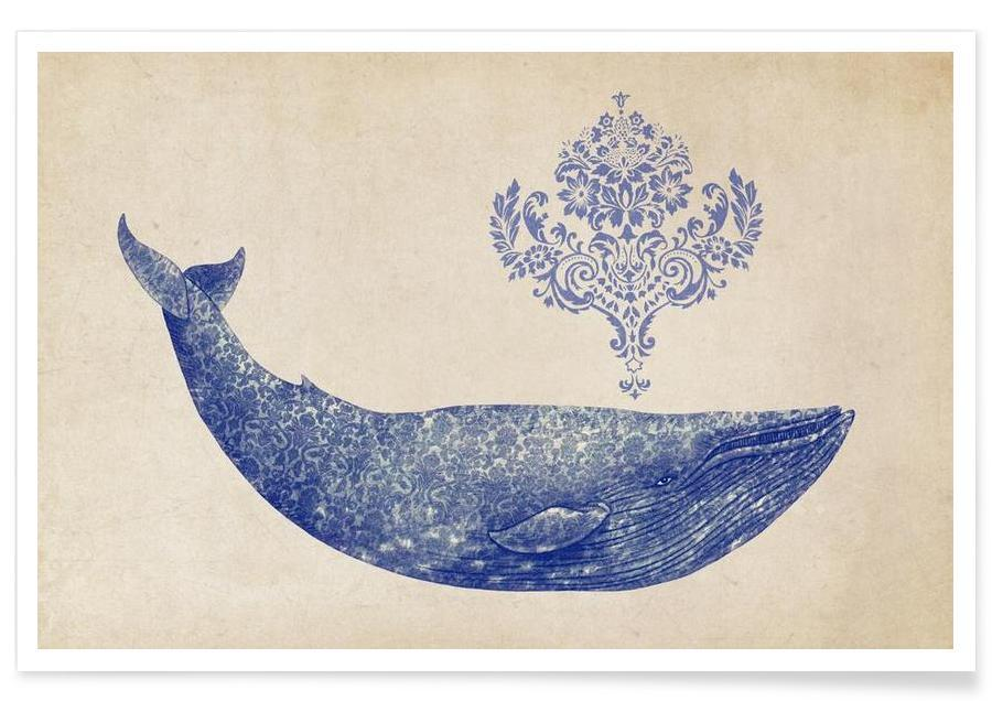 Damask Whale -Poster