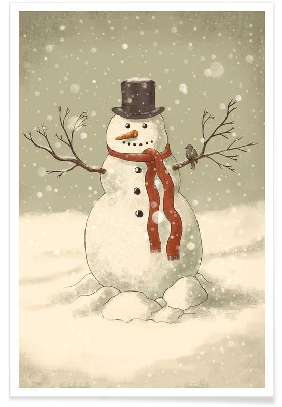 Noël, Bonhomme de neige affiche