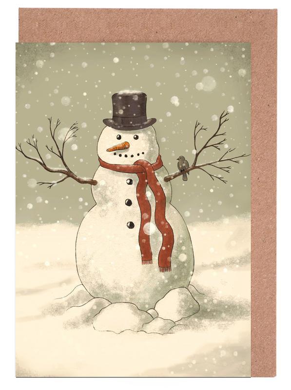 Christmas, Snowman Greeting Card Set