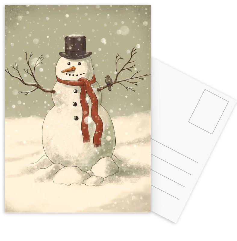 Snowman Postcard Set