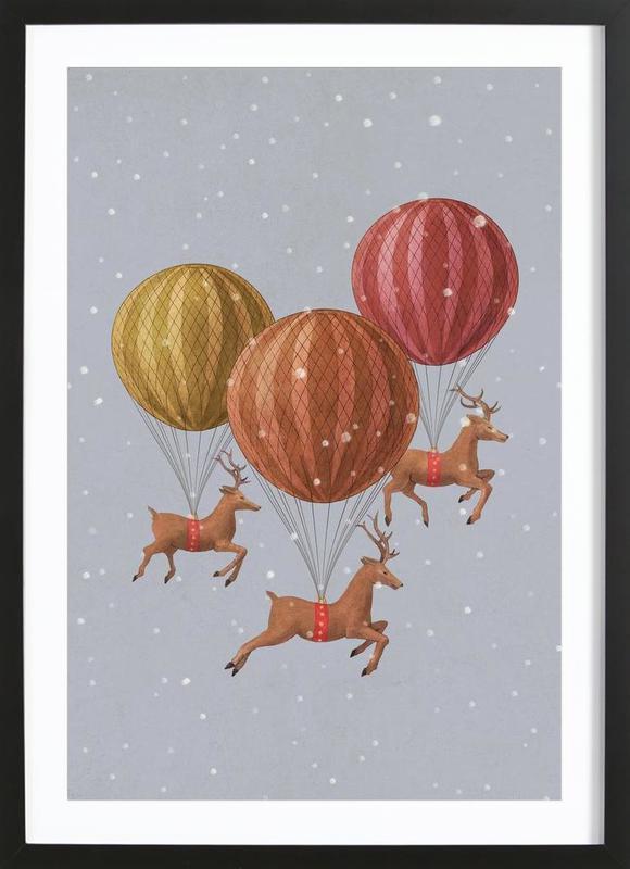 Flight of the deer Framed Print