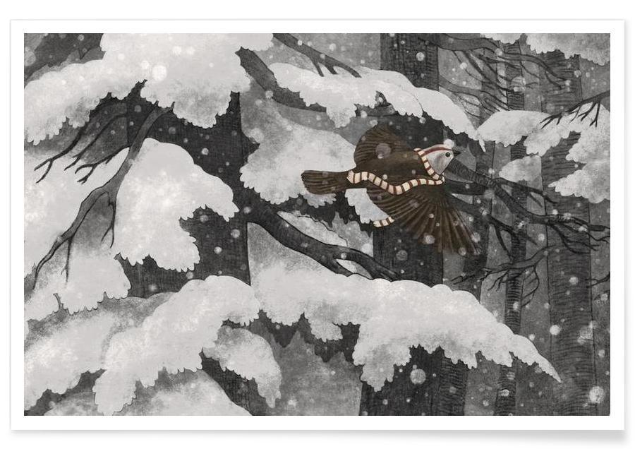, Winter bird affiche