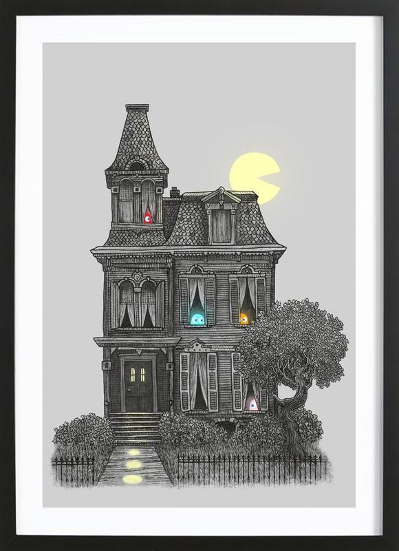 Haunted by the 80's ingelijste print