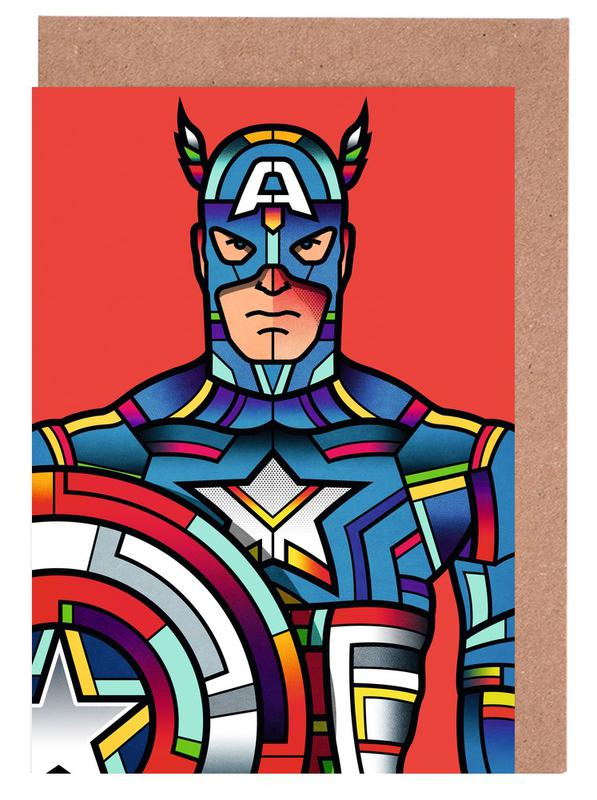Captain America Greeting Card Set