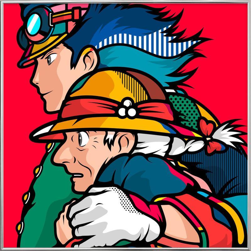 Howl's Moving Castle -Poster im Alurahmen
