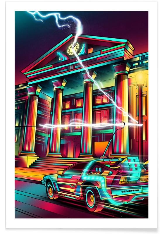 Movies, Delorean Pop Art Poster