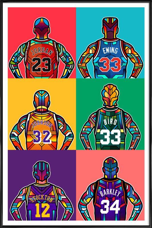 NBA Legends -Bild mit Kunststoffrahmen
