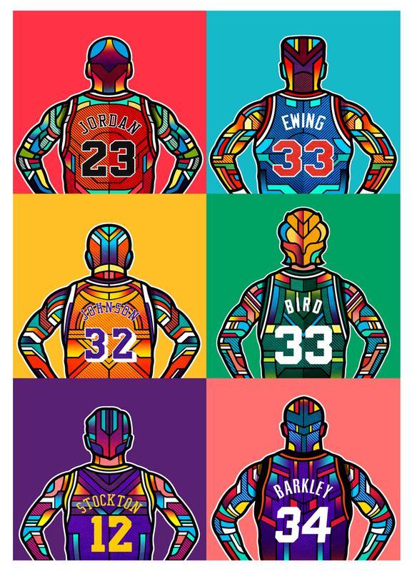 NBA Legends -Leinwandbild