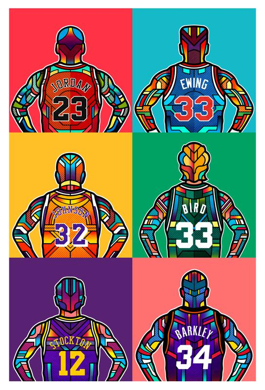 NBA Legends tableau en verre