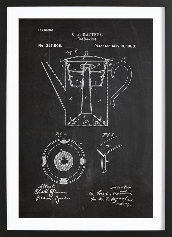 Coffee Pot ingelijste print
