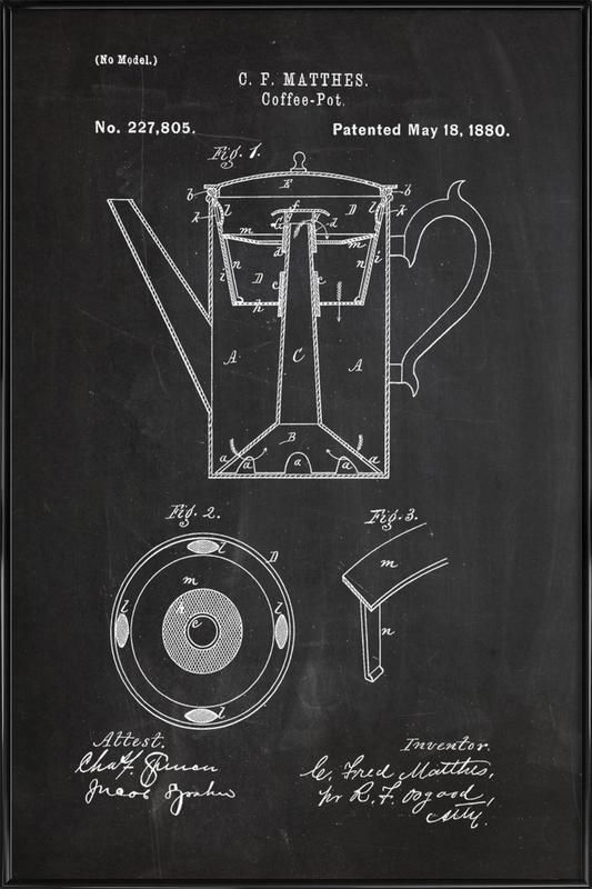 Coffee Pot ingelijste poster