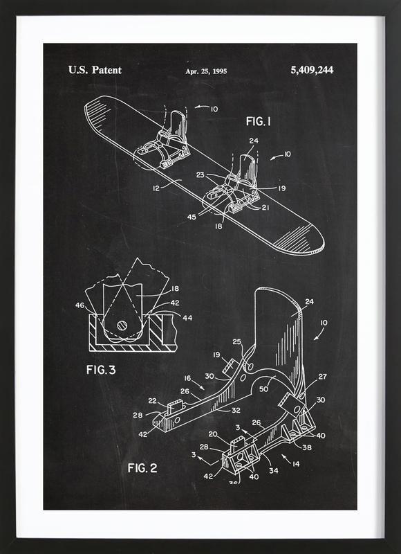 Modern Snowboard Framed Print