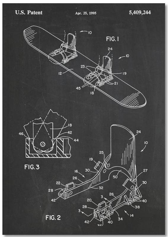 Modern Snowboard Notebook