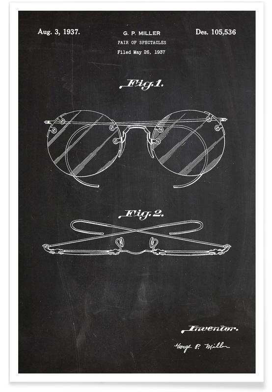 Brillengläser-Patent -Poster