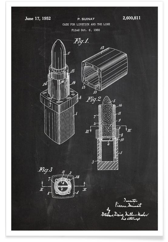 Lippenstift-Patent -Poster