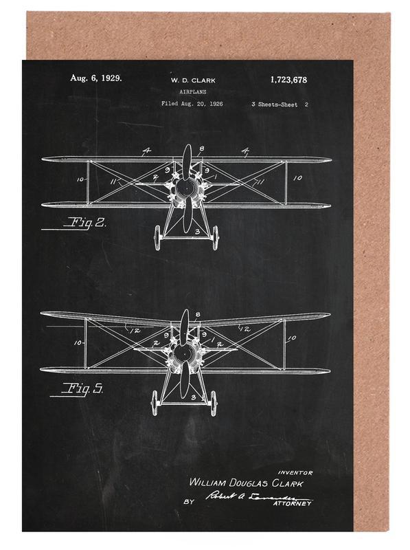Airplane -Grußkarten-Set