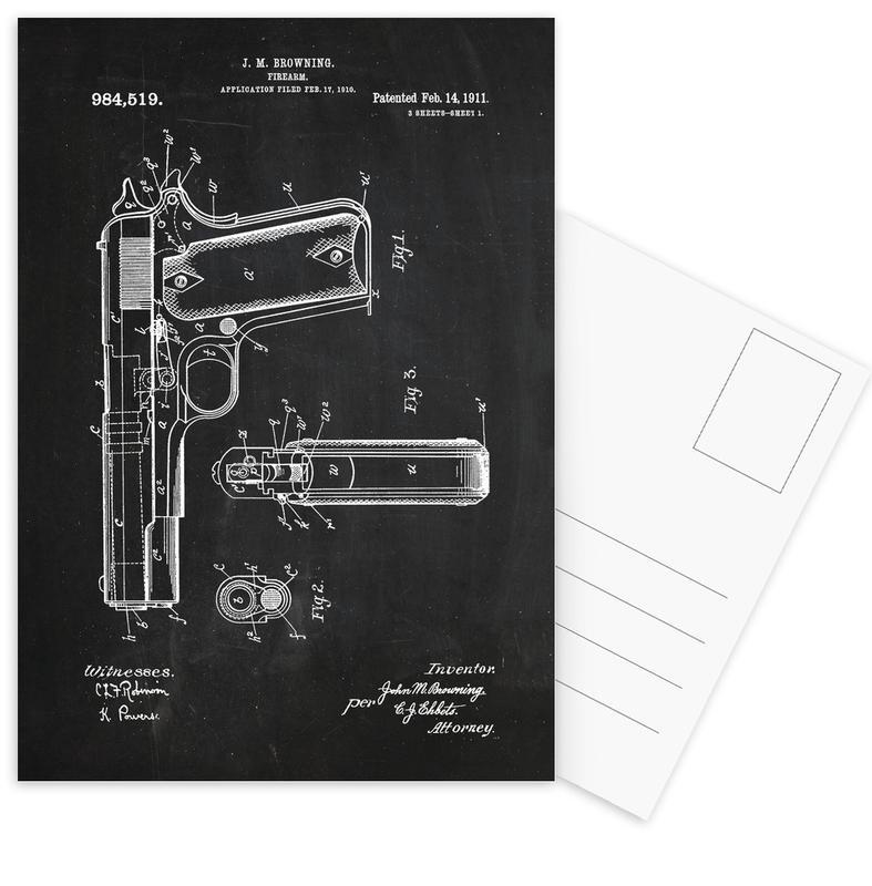 Gun 4 Pack cartes postales