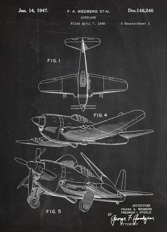 Airplane II canvas doek