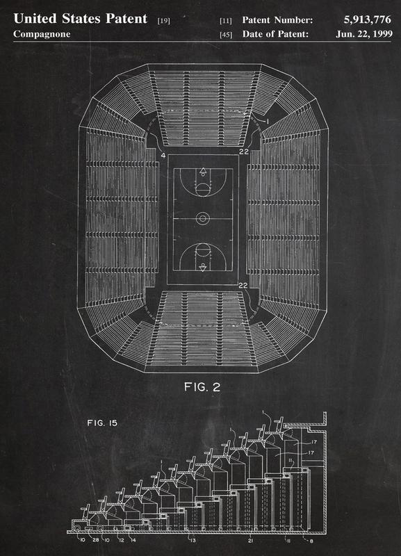 Basketball Court -Leinwandbild