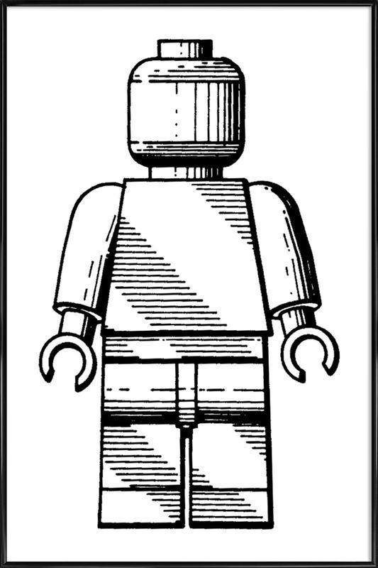 Toy Man 2 -Bild mit Kunststoffrahmen