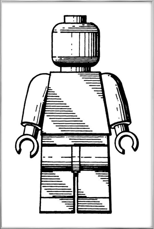 Toy Man 2 poster in aluminium lijst