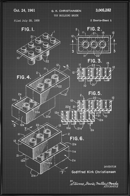 Brick System 2 ingelijste poster
