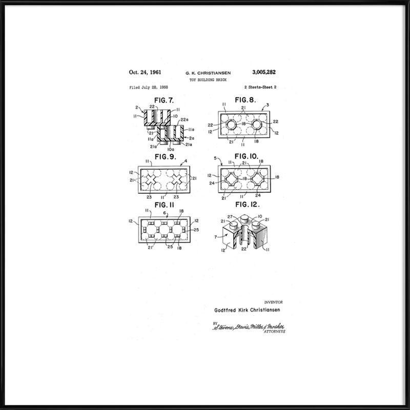 Brick System 3 ingelijste poster