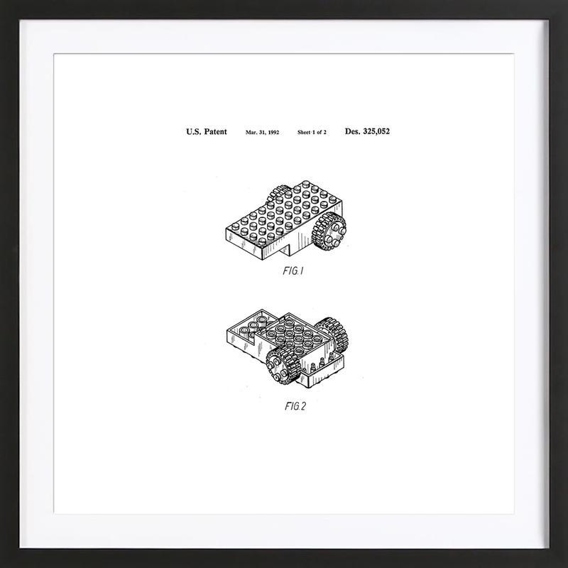 Brick Wheel 1 ingelijste print