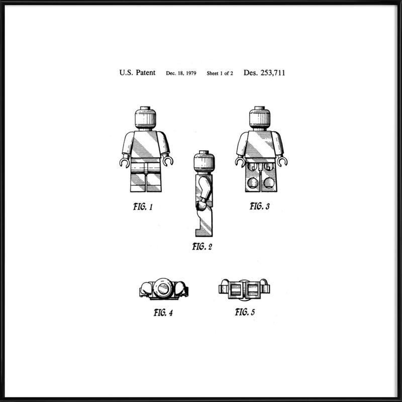 Brick Man 1 -Bild mit Kunststoffrahmen