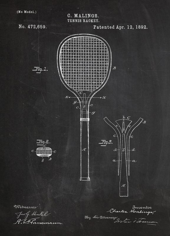 Tennis Racket Canvas Print