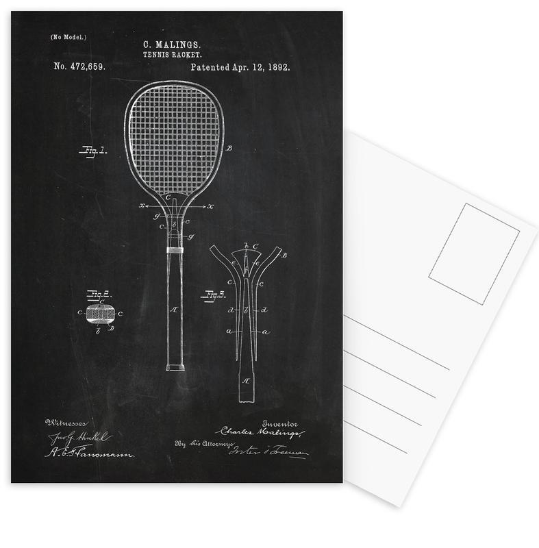 Tennis Racket Postcard Set