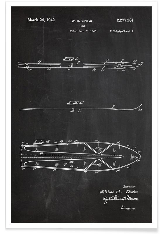 Skis Patent Poster