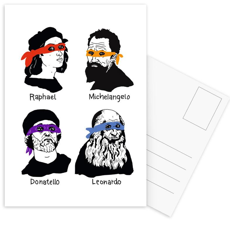 Funny, 2-3-4-5 Postcard Set