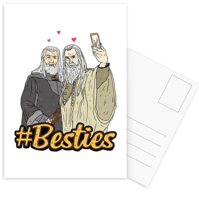 Funny, Besties 4 Postcard Set
