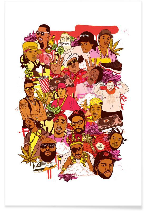 Grappig, Rap Legends poster
